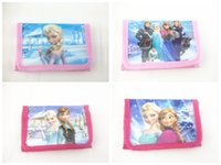 Wholesale Cheap Wallets For Kids - Cute Cartoon Wallet Bay Kids Coin Purse Change Bags Elsa Anna Character Bags Wholesale Cheap Promotion Gift for Boys Girls