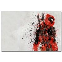 Wholesale Silk Mirrors - Deadpool USA Superheroes Comic Movie Art Silk Fabric Poster Print 24x36 inches 006