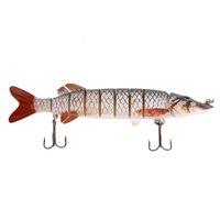 Wholesale Good Quality Lures - 20cm Fishing Lures Lifelike Multijointed 8-segement Pike Good Quality Fishing Lure Fake Fish Bait free shipping