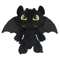 Atacado-How to Train Your Dragon desdentado Fúria da Noite Stuffed Animal Plush Toy Boneca 30CM