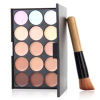 Wholesale Make Up Palette Camouflage Concealer - 2016 Professional Cosmetic Salon Party 15 Colors Camouflage Palette Face Cream Makeup Concealer Palette Make up Set Tools With Brush