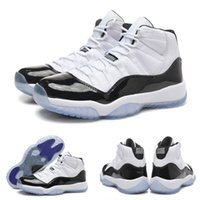Wholesale Net Cloth - Free Shipping Hot Sale Retro 11 XI Space Jams Concord DS Women Men Boots Shoes With shoes Box