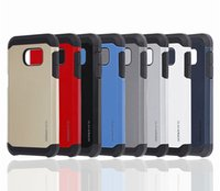 Wholesale Galaxy Grand Tpu Case - SLIM Armor Hybrid Dual Layered TPU PC Shockproof Case For Samsung Galaxy S6 S7 Edge Note 4 5 Grand Prime G530 iPhone 6 Plus