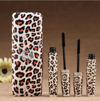 Wholesale cheap natural eyelashes - Waterproof Love Alpha Mascara Natural Fiber Double Brand Black Leopard Extension Lashes Makeup Longest Eyelashes Mascara Cosmetics New Cheap