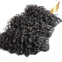 Wholesale Extentions Human - bonne qualitecheveux bresilien vierge Extentions couleur natrel 2pcs Lot Human Hair Wavy Water Wave Hair livraison gratuit