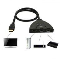 HDMI HUB 3 порта 1080P 3D HDMI AUTO Switch Switcher Splitter с кабелем для ПК Телевизор HDTV DVD PS3 Проектор Xbox 360 Cable