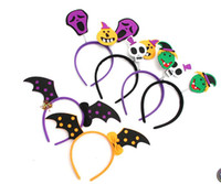 Hallowmas Party Hair band Kids Adults Adkinable Pumpkin Skeleton Witch Vampire Headbands Cute Performance Props Party Decorations 100 шт.