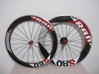 Wholesale Sram Clincher Wheels - Wheelset SRAM s50 s80 Aluminum Carbon Road Racing Carbon Alloy Clincher Wheels +novatec hub+ quick release