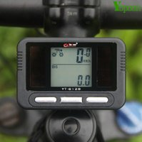 Wholesale Tachometer Bicycle - Solar Charger Cycling Bike Bicycle LED Digital Computer Odometer Tachometer Speedometer LCD Bike Bicycle Cycling Computer