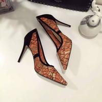 Wholesale High Women Shose - New Fashion Show Design Women Lace High Heels shoes Hot VBrand Female High Quality shose Oringinal Quality