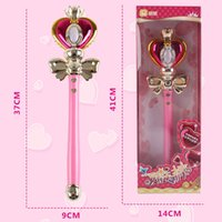 Wholesale Anime Wand - toys toys Anime Cosplay Sailor Moon 20th Tsukino Usagi Wand Henshin Rod Glow Stick Spiral Heart Moon Rod Musical Magic Wand