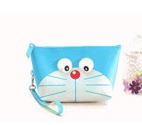 Wholesale Big Wrist Bags - CUTE Doraemon BIG SIZE PU 21*7CM Wrist BAG Cosmetics Pouch BAG ; Coin Purse Wallet Pouch Case BAG