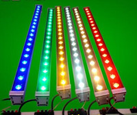 Wholesale Cheap Yellow Lamps - Cheap Hot Outdoor lighting led flood light 12W 18W LED wall washer light lamp staining light bar light AC85-265V RGB for many colors DHL