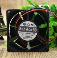 24v rüzgar invertörü toptan satış-SANYO 8cm 80 * 80 * 32 24V 0.29A 109P0824A202 iki telli bir invertör rüzgar soğutma fanı