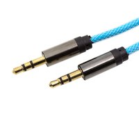 Wholesale Fishing Line Cord - 1M Fish Net Audio AUX Cable 3.5mm Male to Male Car Speaker Extend Line High Quality Luxury Colorful Cord for Phone Speaker