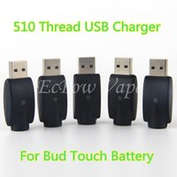 Wholesale Charged Battery China - 510 Charger eGo Chargers O Pen Batteries Charging Output DC5V 0.1A For Bud Touch Battery 510 Thread Ecigs Pen China Direct