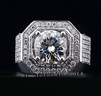 Wholesale men gold ring topaz for sale - Group buy Size8 professional Brand Jewelry kt white gold filled Topaz Simulated Diamond Men Weddin