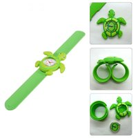 Wholesale Animal Slaps - New Ocean Animal Series watches Cute Children Cartoon Animal Slap Watch Children Silicone WristWatch for kids Gift Mix Models DHL