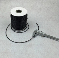 Wholesale Wax Cotton Cord Wholesale - Wholesale - Free Shipping! 80M Black Waxed Cotton Necklace Cord 2mm (B12102)