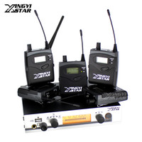 Wholesale ear receiver for sale - Group buy Wireless In Ear Monitor Professional Stage Monitoring System Five Bodypack Receiver With One Cordless USB Transmitter Monitors in Earphone
