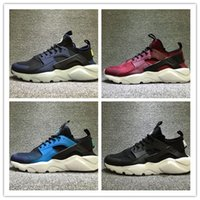 Wholesale Breathe Design - 2017 hot sale New Design Air Huarache 4 All Red Mesh Huraches Sneakers Ultra Breathe Men And Women Huaraches Running Shoes Size 36-46