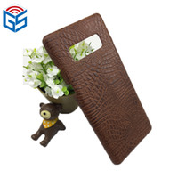 Wholesale crocodile leather case online – custom 6 inch Hot Items Crocodile Grain PU Leather Phone Shell For Samsung Galaxy Note Note8 Phone Case Cover