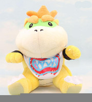 Wholesale mario brothers games - EMS Super Mario Brothers Bowser JR Plush Doll toys 6inch plush children new Brothers Bowser JR soft Plush 15CM toy B