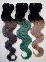 Wholesale Extentions Human - 8A Ombre Brazilian Body Wave Hair Weaves 3 Pcs Two Tone 100% Human Hair Extentions Unprocessed Peruvian Malaysian Indian Hair More Color