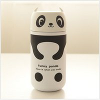 Wholesale Cute Panda Owl thermos ml Stainless Steel Vacuum Cup light and portable kids water bottle