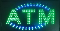 LED Plastic PVC Frame LED ATM Sign Billboard LED Neon Signs Electronic Billboards Indoor Sized 24''x13''