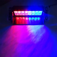 8 LED Car Front Strobe Flash Light Dash de haute qualité Emergency Flashing Fog Lights Lights d'avertissement