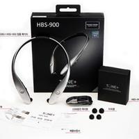 lg tone drahtlose kopfhörer großhandel-HBS-900 Bluetooth V4.1 Kopfhörer Ton + Halsbänder Wireless Stereo Infinim Halsbänder HBS900 Handy Bluetooth CSR Sport Kopfhörer dhl-freies