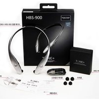 lg telefones celulares venda por atacado-HBS900 Bluetooth V4.1 fone Tone + Stereo de pescoço sem fio Infinim de pescoço HBS900 telefone celular Bluetooth CSR Desporto Headphone DHL livre