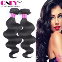 Wholesale Cheap Styling Products - Cheap Peruvian Human Full Cuticle Hair Extensions Virgin Hair Products Black Color Beautiful Hair Style Soft Hand Feeling On Sale