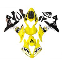 black yamaha bike - Complete Injection Fairing Kit For Yamaha YZF R1 Year ABS Motorcycle Bodywork Yellow White Black Sport Bike Full Cover