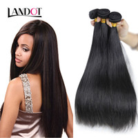 Brazilian Virgin Hair Straight Unprocessed Indígena peruana Malaio Cambojano Russo Europeu Remy Cabelo Humano Weave Bundles Natural Color