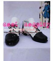 Wholesale Black Butler Grell - Wholesale-Black Butler Alois Ciel Phantomhive Grell Phantomhive Kuroshitsuji VERSION 4 Costume Shoes Boots