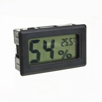 Wholesale Thermometer Hygrometer Humidity - Wholesale-Mini Digital LCD Indoor Convenient Temperature Humidity Meter Thermometer Hygrometer Gauge