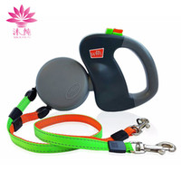 Wholesale Wholesale Retractable Leashes - Dual Doggie 2 Dog 50 pound Retractable Leash 3 meters For Two Dogs Walking Automatic Adjustable Leashes Easily To Control