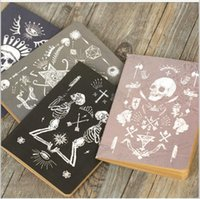 Wholesale Wholesale Book Binding Supplies - Wholesale- 4pcs lot Vintage Pirate skull series Kraft paper notebook Gift travel diary Office note book & School Supplies GT005