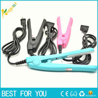 Wholesale Mini Curling Iron Wholesalers - HOT SALE Mini Hair Straightening Irons Practical Portable Ceramic hair straightener Curler Iron straight Curl perm DUAL use