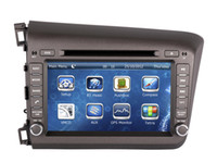 """Wholesale Civic Aux - 8"""" 2-Din Car DVD Player GPS Navigation for Honda Civic 2012 2013 with Radio Bluetooth USB AUX MP3 Audio Stereo"""