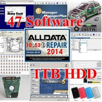 Software di riparazione Alldata 10.53 software alldata e mitchell ElsaWin 5.2 + Vivid WorkShop + camion pesante tutti i dati 47 in 1 TB HDD Best