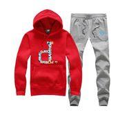 erkekler için kalın kış kıyafetleri toptan satış-S-5xl Erkekler Eşofman Sıcak Satış Kış Rahat Kapüşonlu Spor Seti Erkek Kış Kalın Hoodie hip hop ter suit