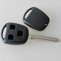 yaris uzaktan kumanda anahtarı toptan satış-En iyi araba anahtarı kabuk 3 düğmeler uzaktan durumda toyota Yaris TOY41 için anahtar boş FOB anahtar kapak no logo