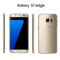 Wholesale Dual Sim Card Cellphones - Refurbished Original Samsung Galaxy S7 Edge G9300 Dual SIM cards Unlocked Phone Octa Core 4GB 32GB 5.112MP Inch Android 6.0