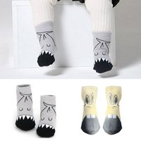 zapatillas de bebé calcetines al por mayor-Bebé recién nacido Barefoot antideslizante calcetines de dibujos animados zapatillas Infant Zapatos Sandalias Sox
