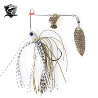 2014 5pcs Trulinoya Fishing Lures Spinnerbait Set 10g Treble gancho artificiais metal colheres Combater China Hot Sale