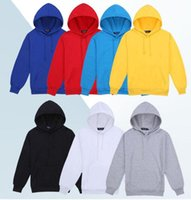 Wholesale Slimming Blanker - Men's Cotton Hooded Blank Pullover Sweatshirt Hoody Long Sleeve Coat Jacket Casual Plain Hoodies Drop Shipping