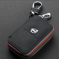 Wholesale Ford Emblems - Car Emblem Leather Key Cover Case Holder Chain For BMW VW AUDI SKODA MAZDA PEUGEOT KIA TOYOTA VOLVO LEXUS NISSAN FORD HONDA BENZ Accessories